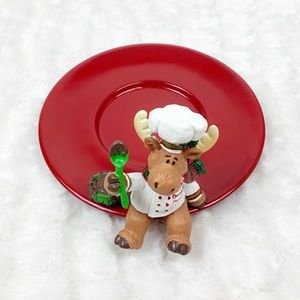 NWOB Yankee Candle chocolate moose candle tray